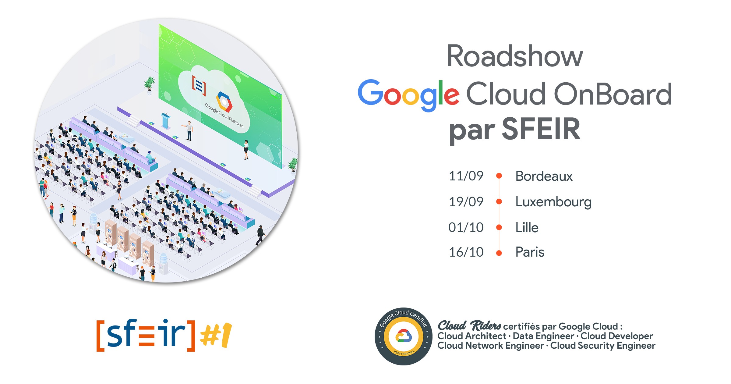 Roadshow Google Cloud OnBoard par SFEIR